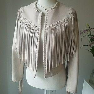 Zara Suede Fringe Jacket